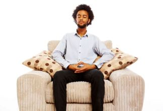 Meditation in a Sitting Posture on a chair